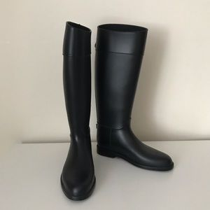 Black Rain Boot, size 10.5